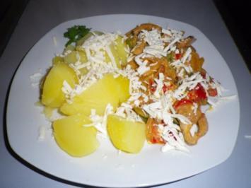 Paprika - Fleisch - Pfanne - Rezept