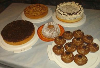 Rezept: Kuchenbuffet für den 25. Geburtstag von Daniel