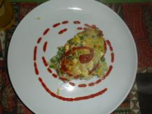 Erbsen- Lauch- Fritatta - Rezept