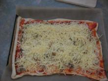 Pizzateig für ein Backblech - Rezept