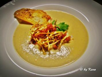 Suppen: Maronen Sekt Süppchen mit Selleriestroh - Rezept
