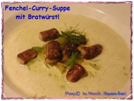 Fenchel-Curry-Suppe mit Bratwürstel - Rezept