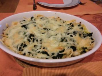 Fisch-Kartoffel-Spinat-Gratin - Rezept