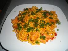 Nudeln in Speck - Pesto  - Sauce - Rezept