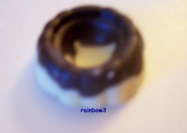 Pralinen: Schwarz-Weiß-Schokostücke - Rezept