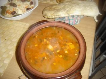 Bohnensuppe im Roemertopf - Rezept