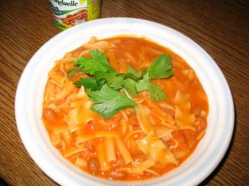 monni`s Pasta e Fagioli / ital. Bohnensuppe mit Pasta - Rezept