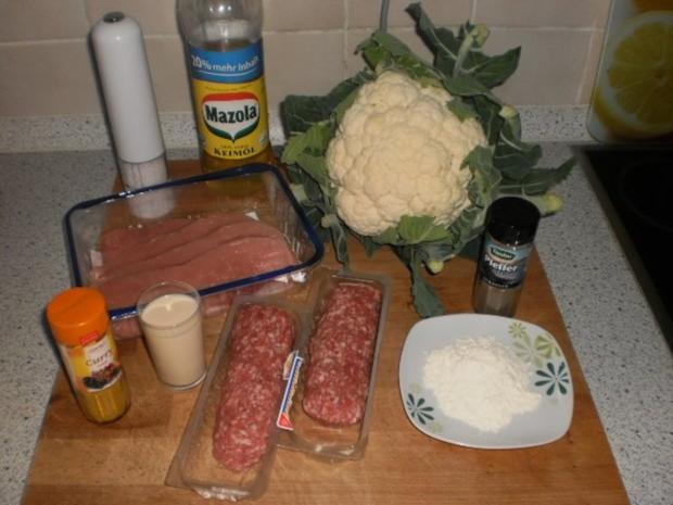 Schnitzelröllchen zu Blumenkohl - Rezept - Bild Nr. 2