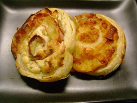 Snack: Pikanter Blätterteig  Mix - Rezept