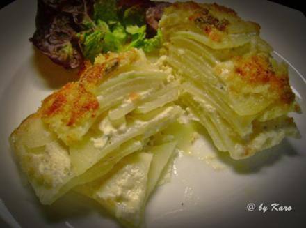 Gemüse: Feines Kohlrabi Gorgonzola Gratin - Rezept