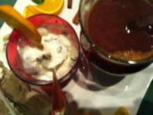 Datteln-Gewürz-Süppchen.. mit Ziegenkäsedip.. dazu Ciabatta - Rezept