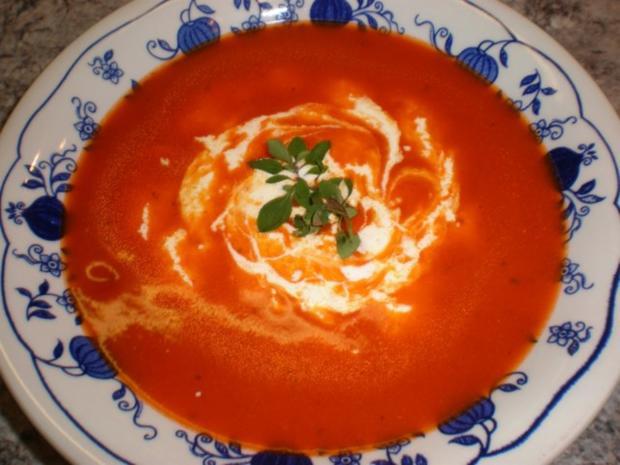 Tomatensuppe cremig - Rezept