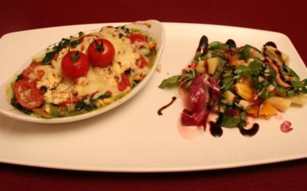 Baby-Lasagne an Blattsalat - Rezept