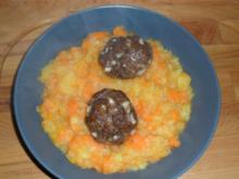 Möhrengemüse mit Ofenfrikadellen - Rezept