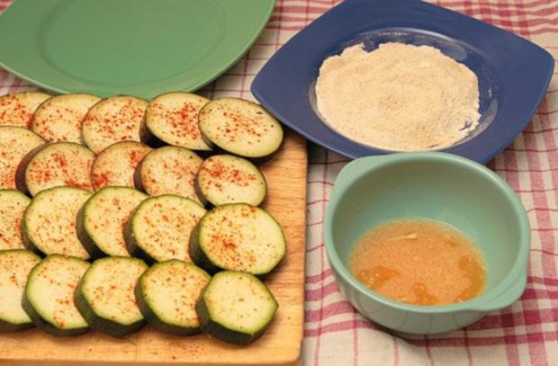 Paniertes Gemüse - Auberginen und Zucchini - Rezept - Bild Nr. 3