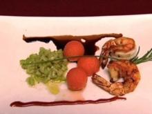 Gebratene Gambas mit Salat von Sellerie und Honigmelone (Antonio Putignano) - Rezept