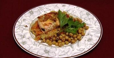 Linsen-Curry mit Lachs-Filet, dazu Kichererbsen-Dal (Jessica Kastrop) - Rezept