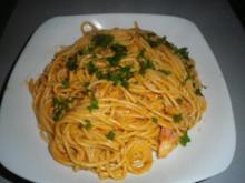 Spaghetti mit Forellensauce - Rezept