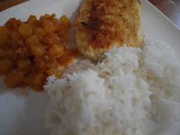 "Putenschnitzel ""Karibik"" mit Reis - Rezept"