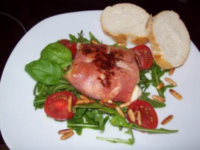 Gefüllte Mozzarellakugeln mit Pancetta - Rezept