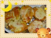 Gratinierte Kartoffel mit Paprika-Tomaten-Soße - Rezept