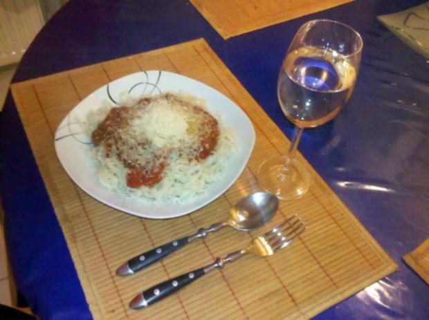 Nudeln: Chinesische Bandnudeln mit italienischer Tomatensoße - Rezept - Bild Nr. 5