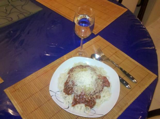 Nudeln: Chinesische Bandnudeln mit italienischer Tomatensoße - Rezept - Bild Nr. 6