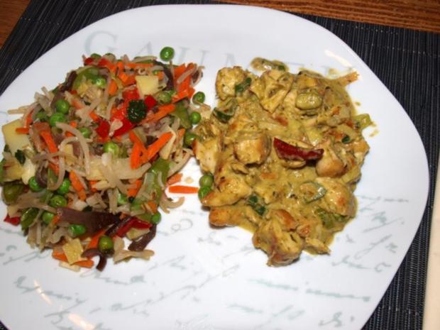 Grünes Hähnchen-Curry       (Kaeng Khiew Wan Gai) - Rezept