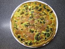 Brokkoli-Zucchini-Speck-Quiche - Rezept