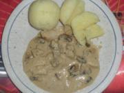 Hähnchen mit Pilzsoße - Rezept