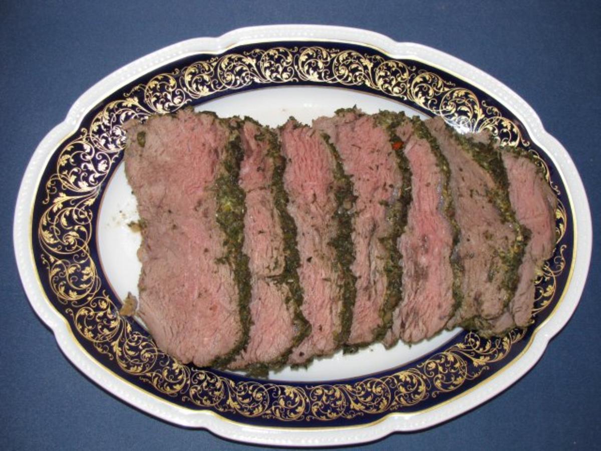 Fleisch: Roastbeef im Kräutermantel mit NT-Methode - Rezept By saturnia