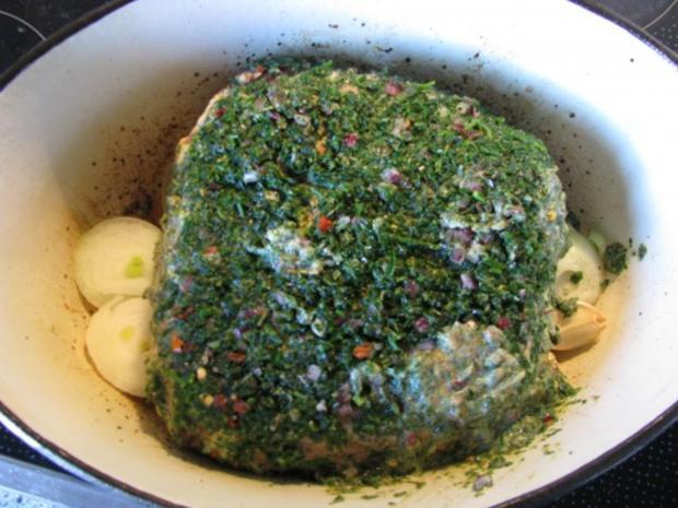 Fleisch: Roastbeef im Kräutermantel mit NT-Methode - Rezept - Bild Nr. 5