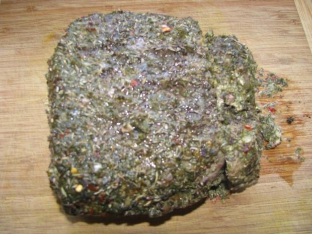 Fleisch: Roastbeef im Kräutermantel mit NT-Methode - Rezept - Bild Nr. 6