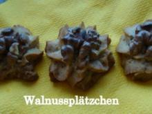 Walnussplätzchen - Rezept