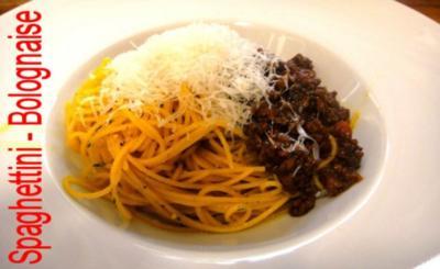 Spaghettini-Bolognaise Euro 5,55 für 4 Pers. - Rezept