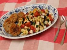 Rustikaler Salat, griechische Art - Rezept