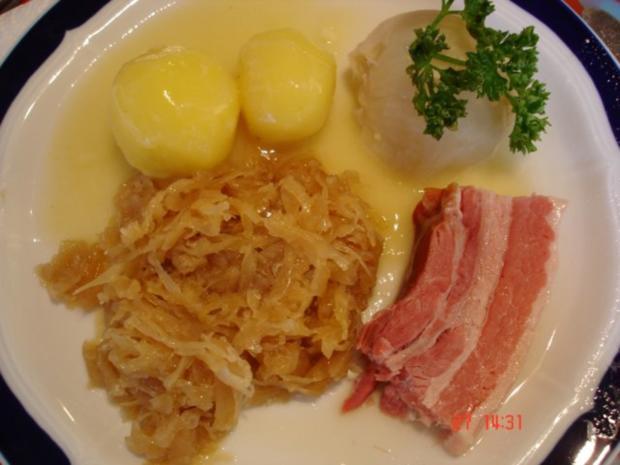 Raucherfleisch mit Sauerkraut und Salzkartoffeln - Rezept - Bild Nr. 10