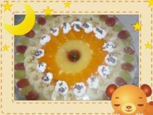Obst-Sahne-Torte mit Rührteigboden - Rezept