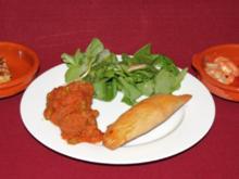 Albondigas, Tortilla, Empanadillas, Gambas al Aioli und Chorizo al vino - Rezept