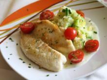 Gebratenes Tilapia-Filet mit Lauch-Kartoffelpürree und Dillsoße - Rezept