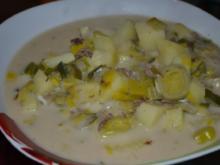 Leichte Käse-Lauch-Suppe - Rezept