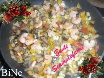 Rezept: BiNe` S BUNTE SCAMPI - PFANNE