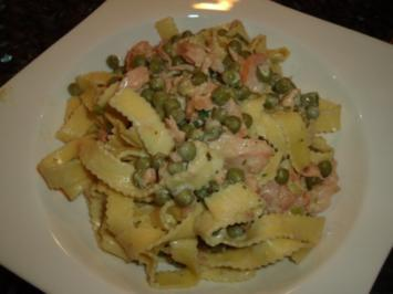 Fisch: Räucherlachs-Frischkäse-Pasta - Rezept