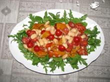 Salat: Rauke-Paprika-Bohnen-Salat mit Mozzarella - Rezept