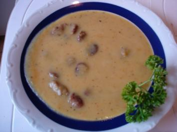 Kartoffelsuppe mit Rost-Bratwürsten - Rezept