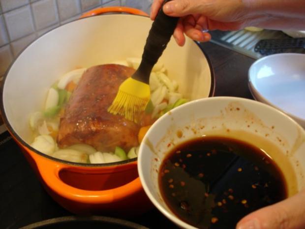 Kasseler mit Honig-Chili-Kruste - Rezept - Bild Nr. 14