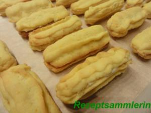 Kekse:   ORANGENSTÄBE mit Cointreau-Füllung - Rezept