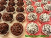 Konfekt:   RUMKUGELN - Rezept