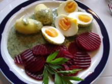 Eier in Dillsoße mit Kartoffeln - Rezept