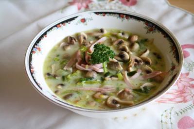 Lauch-Pilz-Süppchen - Rezept